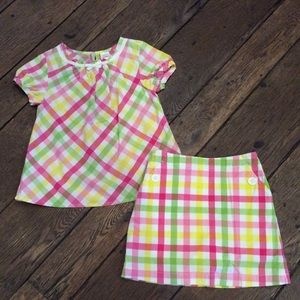 Gymboree Pretty Lady Shirt Size 6 & Skort Size 7
